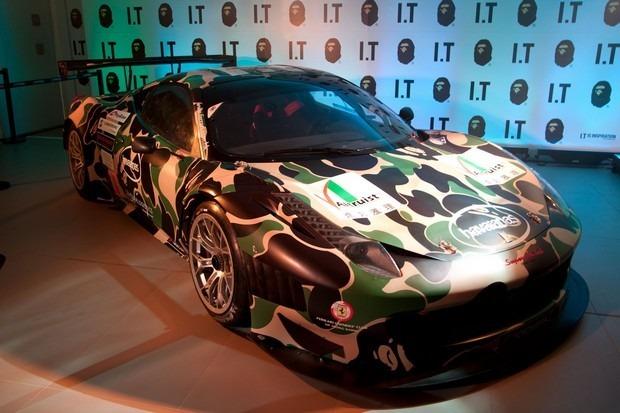 Ferrari совместно с маркой A Bathing Ape представили камуфляжную версию своего суперкара. Изображение № 2.