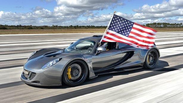 Суперкар Hennessey побил рекорд скорости Bugatti Veyron. Изображение № 1.