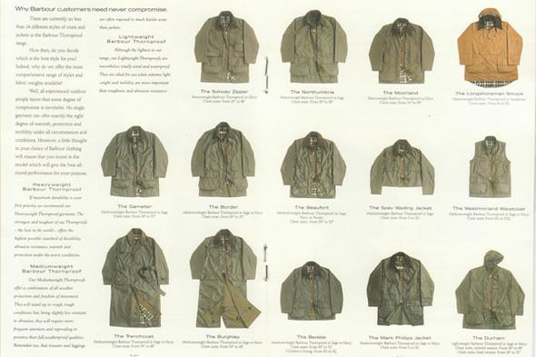Разворот из каталога Barbour 1990-х годов. Изображение № 11.