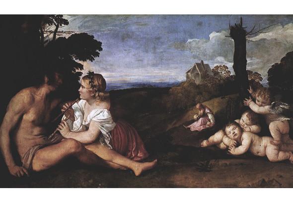 Тициан Вечеллио да Кадоре «Три возраста мужчины», 1512. Изображение № 11.