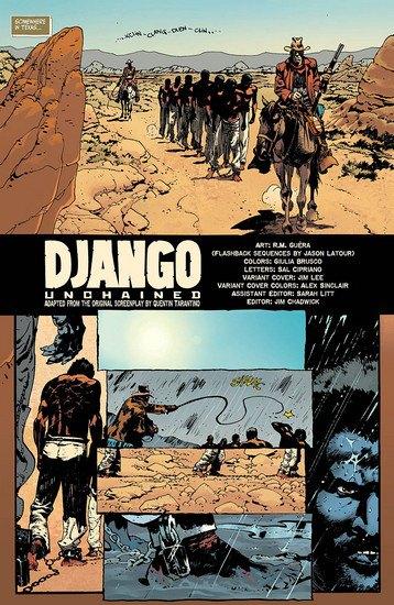 Вышли комиксы по фильму Тарантино «Джанго освобожденный». Изображение № 2.