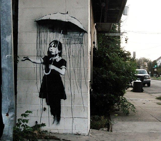 Кусок стены с граффити Бэнкси пытались похитить в Новом Орлеане. Изображение № 1.