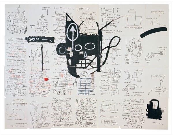 В музее Бруклина выставили скетчбуки Баския. Изображение № 9.