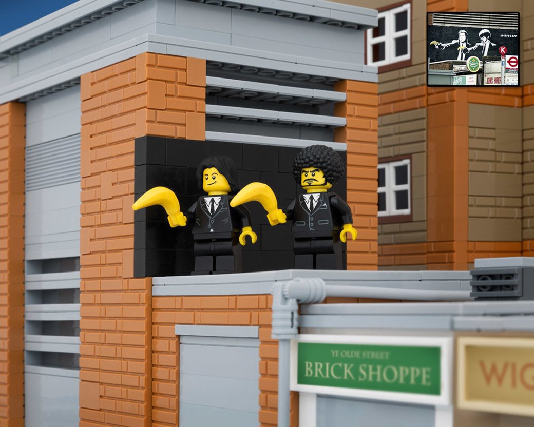 Bricksy: Работы Бэнкси из конструктора LEGO. Изображение № 15.