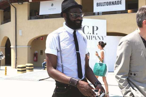 Первый день Pitti Uomo: Прически, усы и бороды посетителей. Изображение № 2.