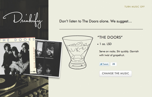 Сервис Drinkify поможет подобрать выпивку под любимую музыку. Изображение № 2.