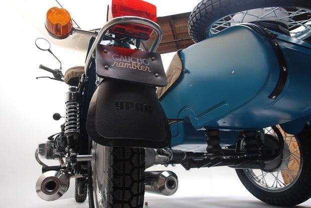 Российская марка «Урал» и бренд Pendleton собрали совместную модель мотоцикла. Изображение № 5.