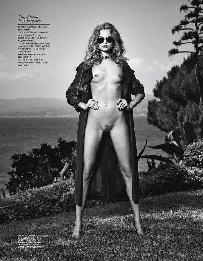 Магдалена Фраковяк сфотографировалась у Марка Сегала для июльского номера журнала Lui Magazine . Изображение № 5.