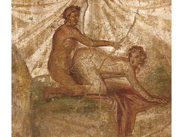 Эротическая сцена, Помпеи. Изображение № 17.