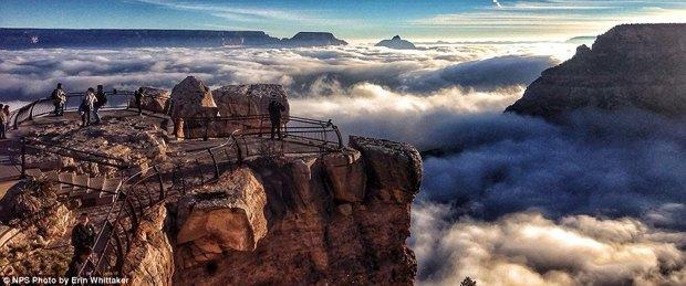 В Большом каньоне впервые за 10 лет появился туман. Изображение № 4.