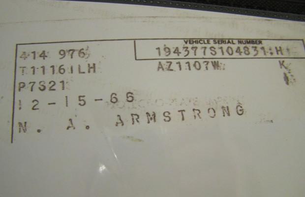 Автомобиль Нила Армстронга выставлен на аукцион eBay . Изображение № 3.