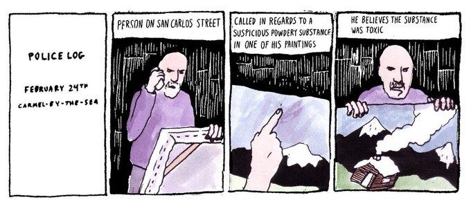 Police Log Comics: Абсурдные полицейские сводки в формате комиксов. Изображение № 14.