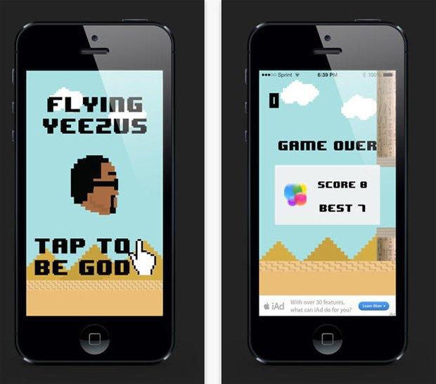 Канье Уэст выпустил собственную версию игры Flappy Bird. Изображение № 2.