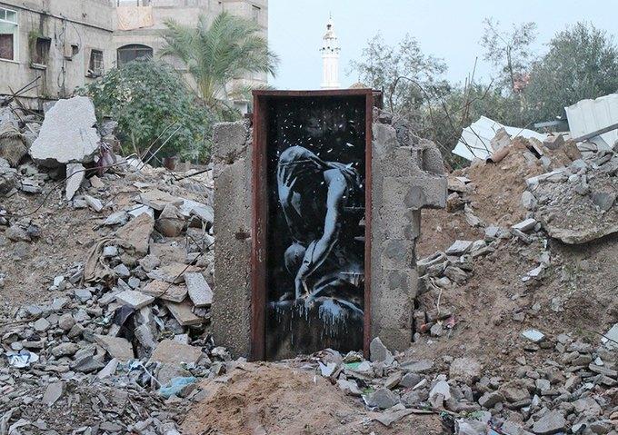 Бэнкси нарисовал граффити в секторе Газа. Изображение № 1.