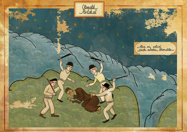Турецкий художник изобразил кадры из известных фильмов в стиле миниатюр времен Османской империи. Изображение № 2.