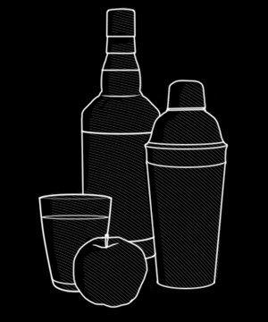 Коктейль: SpringGrass Tini на основе бурбона и яблочного ликёра. Изображение № 2.
