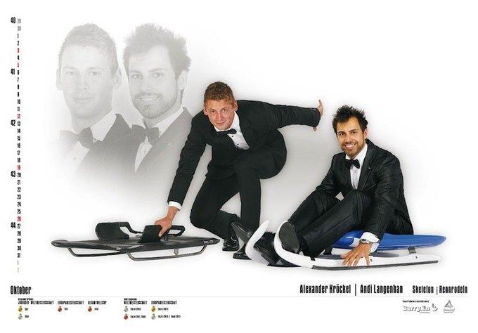 Немецкие спортсмены снялись для необычного календаря. Изображение № 10.