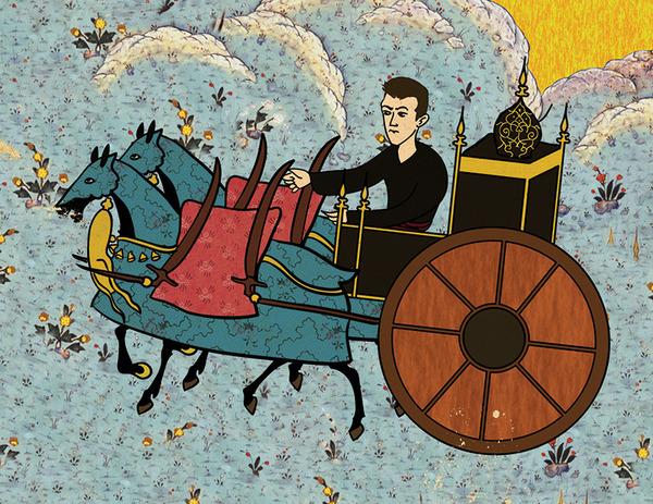 Турецкий художник изобразил кадры из известных фильмов в стиле миниатюр времен Османской империи. Изображение № 20.