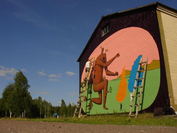 Скетчбук: Участники граффити-дуэта из Киева Interesni Kazki рассказывают о своих лучших работах. Изображение № 9.