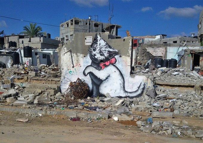 Бэнкси нарисовал граффити в секторе Газа. Изображение № 2.