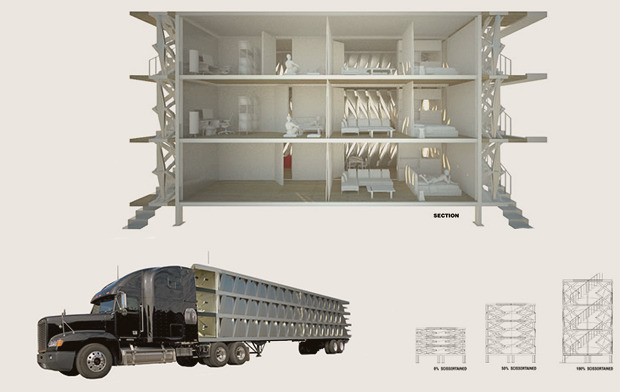 На коробке: Корабельные контейнеры как жилье на случай катастрофы. Изображение № 8.