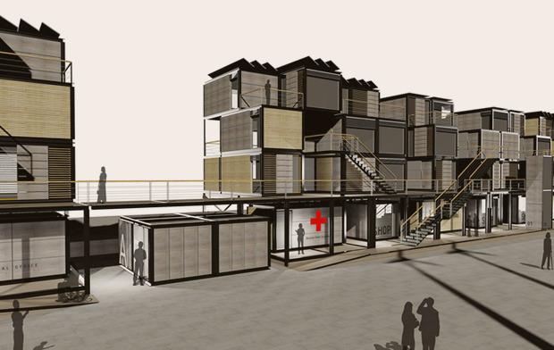 На коробке: Корабельные контейнеры как жилье на случай катастрофы. Изображение № 9.