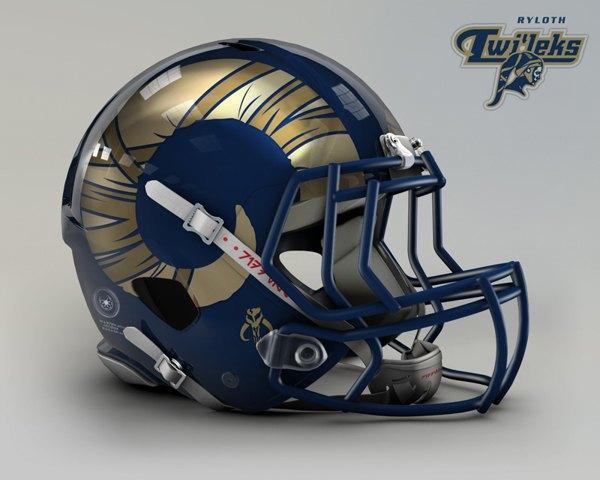 Мексиканец создал коллекцию футбольных шлемов, посвящённую «Звёздным войнам». Изображение № 5.