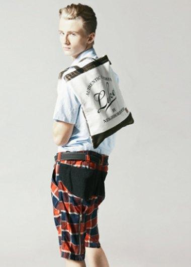 Марка Neighborhood опубликовала лукбук весенней коллекции одежды своей линейки Luker. Изображение № 9.