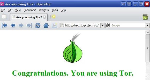 Tor - стартовая страница