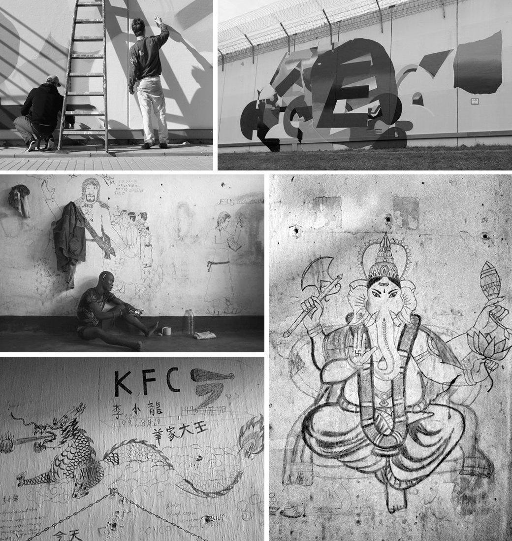 Граффити за решёткой: Что рисуют на стенах тюремных камер по всему миру. Изображение № 2.