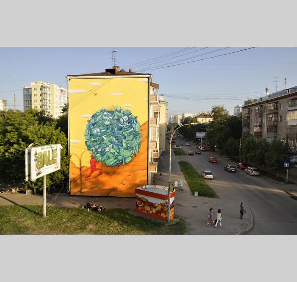 Скетчбук: Участники граффити-дуэта из Киева Interesni Kazki рассказывают о своих лучших работах. Изображение № 22.