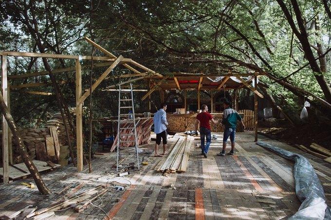 Фоторепортаж: Строительство объектов фестиваля Outline. Изображение № 23.