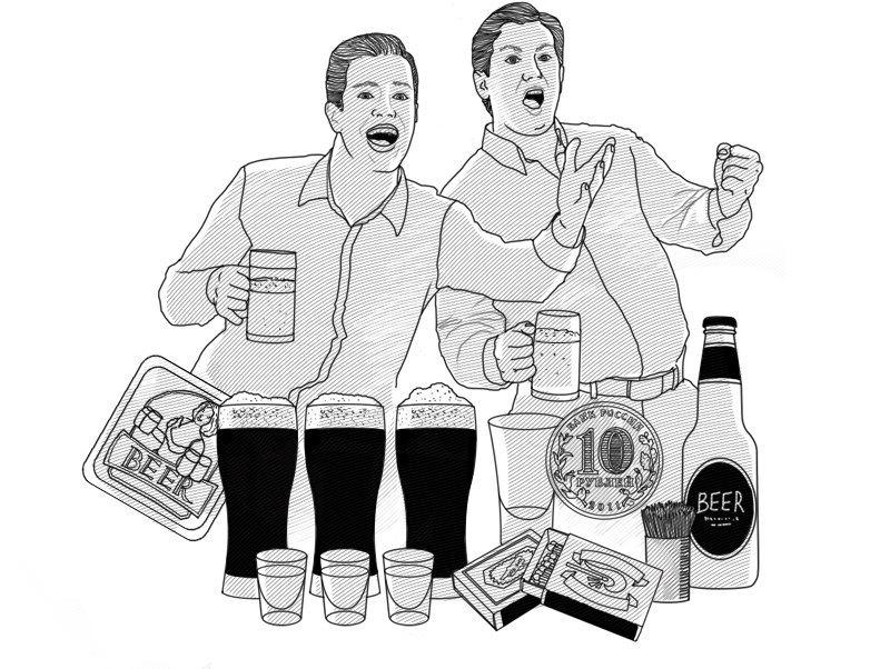 Спорный момент: 14 алкогольных пари, чтобы выиграть выпивку в баре. Изображение № 1.