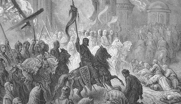 Рыцари ордена Тамплиеров при взятии арабского города. Изображение № 7.