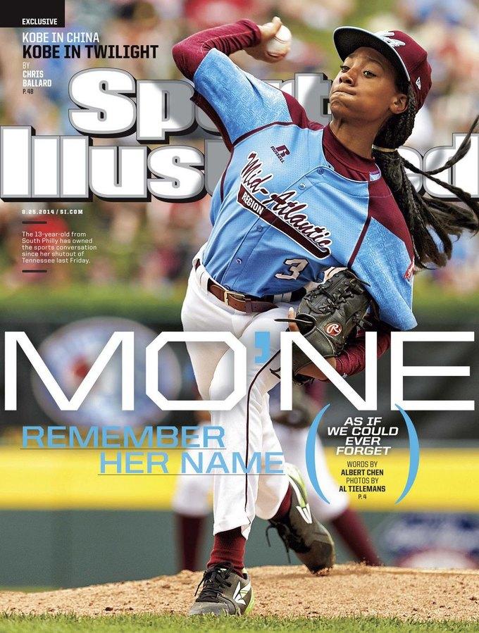 13-летняя бейсболистка попала на обложку Sports Illustrated. Изображение № 1.