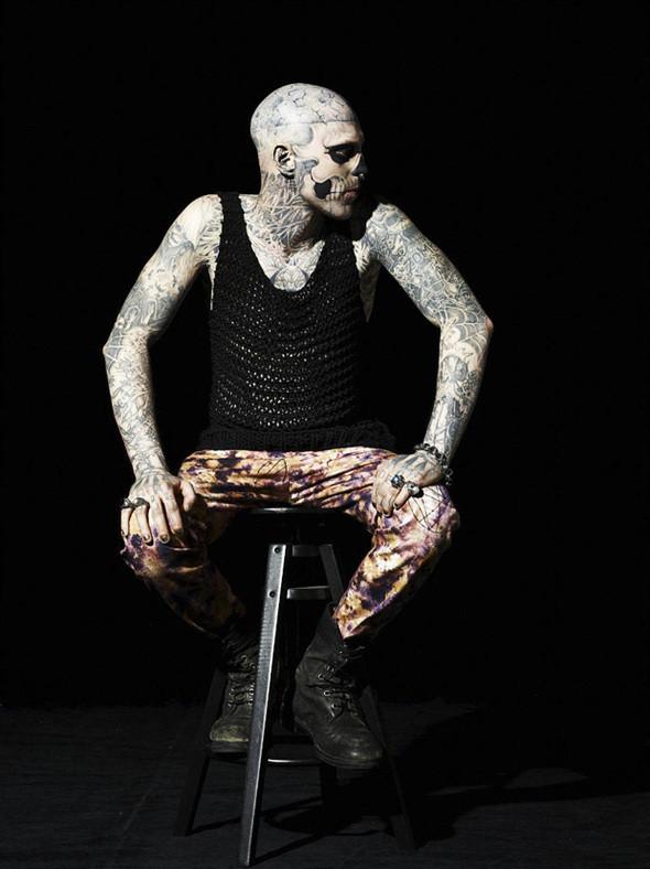 Изображение 9. Татуированная модель Рик Дженест снялся для GQ Italia.. Изображение № 8.