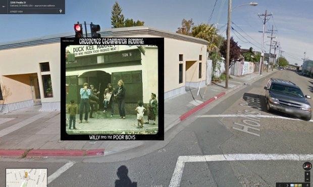 The Guardian наложила обложки альбомов на фотографии мест, где они были сняты. Изображение № 6.