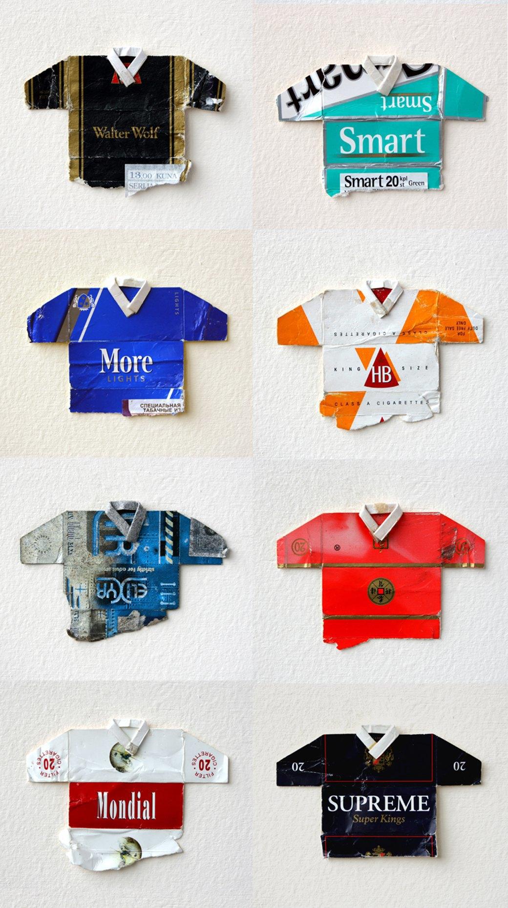 Мини-футболки из сигаретных пачек художника Льва Фицмориса. Изображение № 3.
