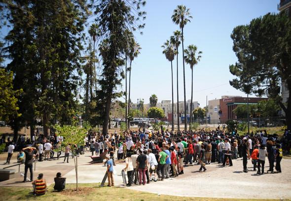 Изображение 2. Скейтбордисты Лос-Анджелеса устроили «Безумие на улицах города».. Изображение № 2.