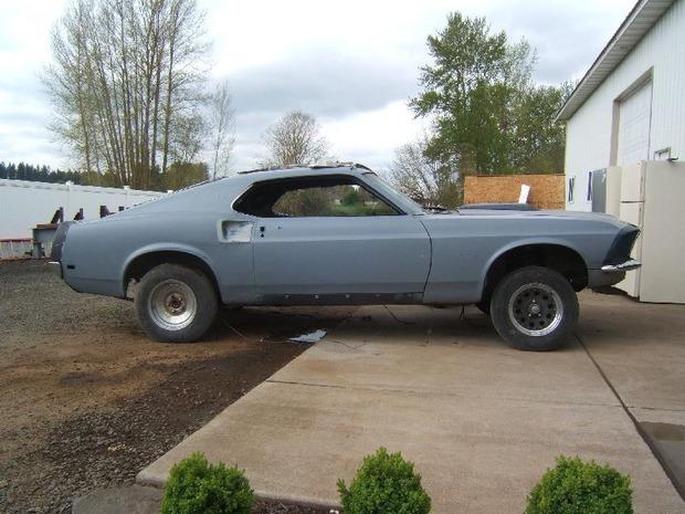 Американская мастерская изготовила гибрид маслкара Ford Mustang Mach 1 и спорткара GT40. Изображение № 15.