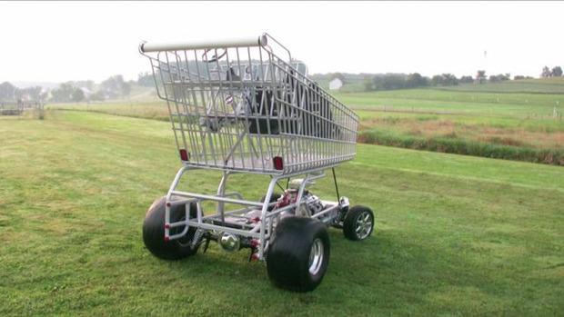 В США  тележку для супермаркета оснастили 290-сильным двигателем. Изображение № 2.