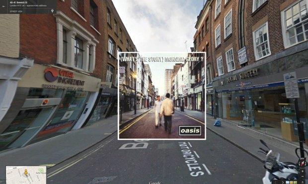 The Guardian наложила обложки альбомов на фотографии мест, где они были сняты. Изображение № 1.