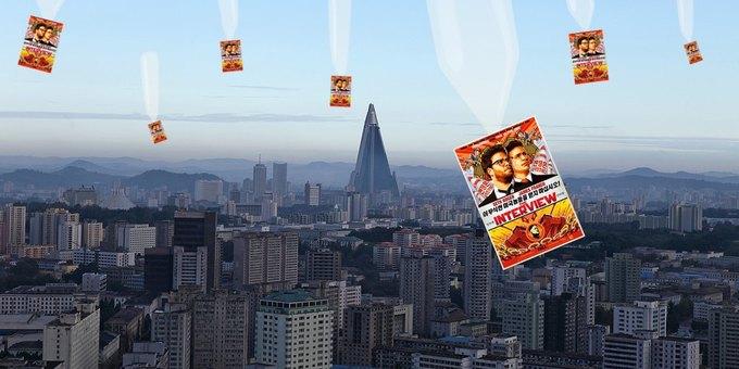 Диски с фильмом «Интервью» сбросят в Северную Корею с воздуха. Изображение № 1.
