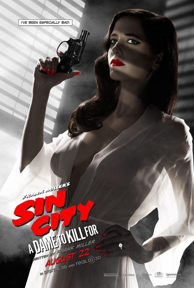 Постер нового «Города грехов» с Евой Грин запретили за «излишнюю сексуальность». Изображение № 1.