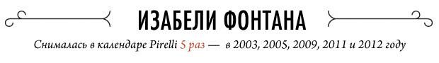 Ежегодный отчет: 20 главных звезд эротических календарей Pirelli. Изображение № 55.