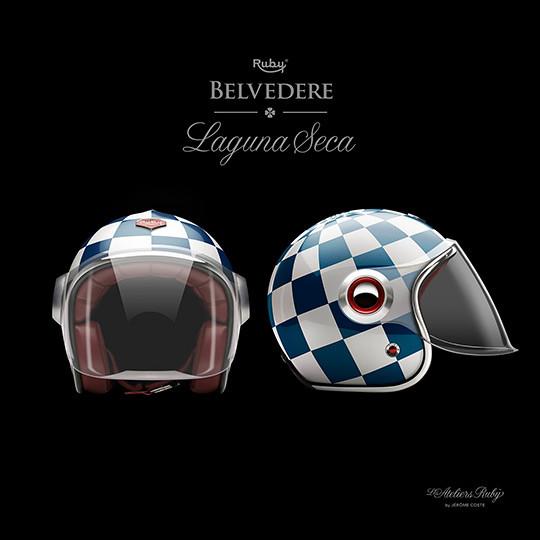 Коллекция мотоциклетных шлемов марки Les Ateliers Ruby. Изображение № 3.