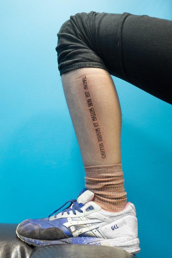 Русские пословицы в качестве татуировок на латыни. Изображение № 6.