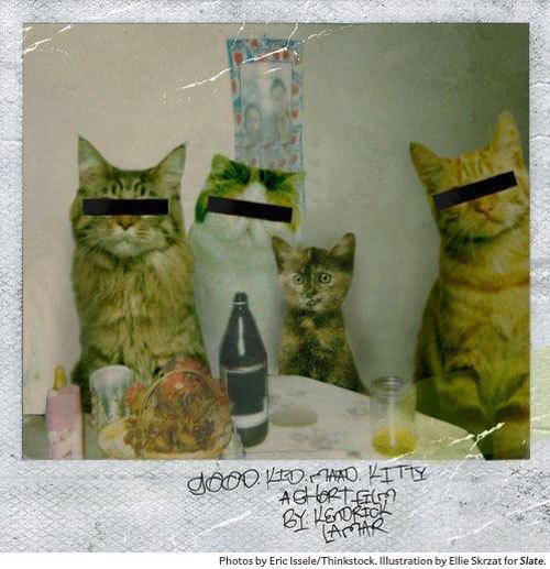 Художница поместила котов на обложки культовых рэп-альбомов. Изображение № 6.