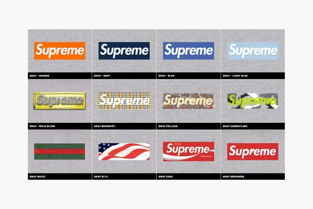 Магазин Kopbox собрал в архив все разновидности логотипа марки Supreme. Изображение № 9.