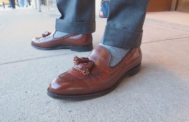 Как правильно носить лоферы с носками?. Изображение № 5.